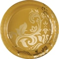 Creative Converting Gold Anniversary 10in. Round Banquet Plates, 8/Pack