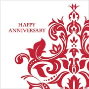 Creative Converting Ruby Happy Anniversary 3-Ply Luncheon Napkins, 36/Pack