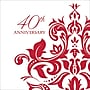 Creative Converting 40th Anniversary Beverage Napkins, 36/Pack
