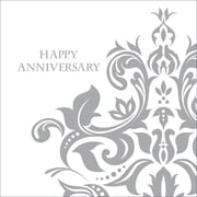 Creative Converting Silver Happy Anniversary 3-Ply Luncheon Napkins, 36/Pack