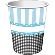 Creative Converting Sweet Baby Feet Blue Hot/Cold Drink Cups, 8/Pack