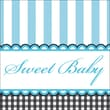 Creative Converting Sweet Baby Feet Blue 3-Ply Beverage Napkins, 16/Pack