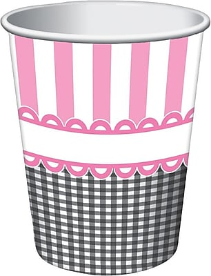 Creative Converting Sweet Baby Feet Pink Hot/Cold Drink Cups, 8/Pack 1005791