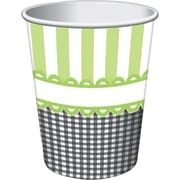Creative Converting Sweet Baby Feet Green 9 oz. Hot/Cold Drink Cups, 8/Pack