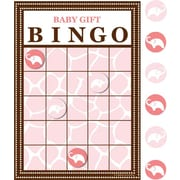 "Creative Converting 6.5""W x 10""H Wild Safari Bingo Game, Pink"