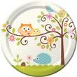 "Creative Converting Happi Tree 9"" Round Dinner Plates, 8/Pack"