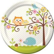 Creative Converting Happi Tree 9 Round Dinner Plates, 8/Pack