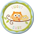 Creative Converting Happi Tree Sweet Baby Boy 7in. Round Luncheon Plates, 8/Pack