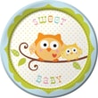 """Creative Converting Happi Tree Sweet Baby Boy 7"""" Round Luncheon Plates, 8/Pack"""