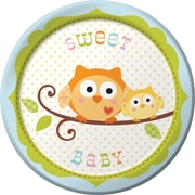 "Creative Converting Happi Tree Sweet Baby Boy 7"" Round Luncheon Plates, 8/Pack"