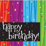 "Creative Converting Milestone Celebrations ""Happy Birthday"" 3-Ply Luncheon Napkins, 16/Pack"