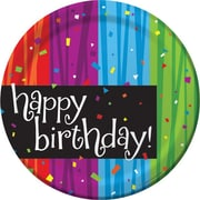"Creative Converting Milestone Celebrations ""Happy Birthday"" Luncheon Plates, 8/Pack"