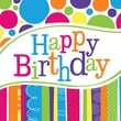 Creative Converting Bright and Bold Happy Birthday Beverage Napkins, 18/Pack