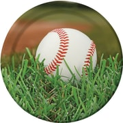 "Creative Converting Baseball 9"" Round Dinner Plates, 8/Pack"