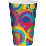 Creative Converting Mod Circles 12 oz. Hot/Cold Drink Cups, 8/Pack