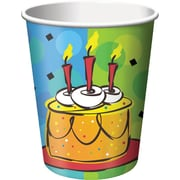 Creative Converting Cake Celebration 9 oz. Hot/Cold Drink Cups, 8/Pack