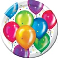 Creative Converting Birthday Balloons 9in. Dinner Plates, 8/Pack
