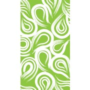Creative Converting Fresh Lime Swirl 3-Ply Guest Napkins, 16/Pack