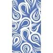 "Creative Converting True Blue Swirl 3-Ply Guest Napkins, 4.5"" x 8.25"", 16/Pack"