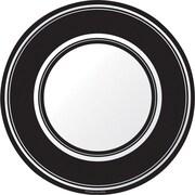 Creative Converting Black Velvet Striped 7 Round Luncheon Plates, 8/Pack