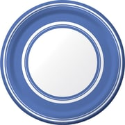 Creative Converting True Blue Striped 7 Round Luncheon Plates, 8/Pack