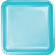 "Creative Converting Pastel Blue 9"" Square Dinner Plates, 18/Pack"