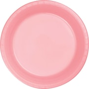 "Creative Converting Classic Pink 7"" Round Luncheon Plates, 20/Pack"