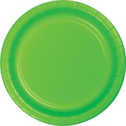 "Creative Converting Fresh Lime 7"" Round Luncheon Plates, 24/Pack"