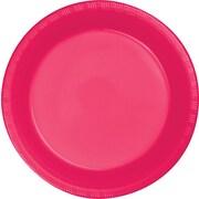 "Creative Converting Hot Magenta 7"" Round Luncheon Plates, 20/Pack"