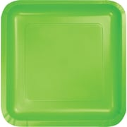 Creative Converting Fresh Lime 9 Square Dinner Plates, 18/Pack