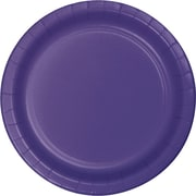 "Creative Converting Purple 10"" Round Banquet Plates, 24/Pack"