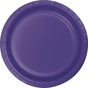 "Creative Converting Purple 7"" Round Luncheon Plates, 24/Pack"
