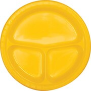 Creative Converting Divided School Bus Yellow 10 Round Banquet Plates, 20/Pack