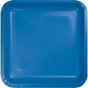 Creative Converting True Blue 9 Square Dinner Plates, 18/Pack