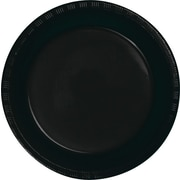 "Creative Converting Black Velvet 7"" Round Luncheon Plates, 20/Pack"
