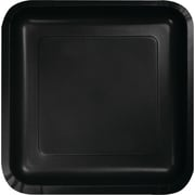 Creative Converting Black Velvet 9 Square Dinner Plates, 18/Pack