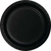 Creative Converting Black Velvet 9 Round Dinner Plates, 24/Pack