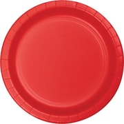 "Creative Converting Classic Red 7"" Round Luncheon Plates, 24/Pack"