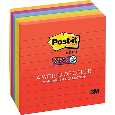 Post-it® Super Sticky Notes, 4