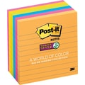 Post-it® Super Sticky 4in. x 4in. Line-Ruled Rio De Janiero Notes, 6 Pads/Pack