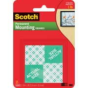 "Scotch® Permanent Heavy Duty Mounting Squares, 1"" x 1"", 16/Pack"