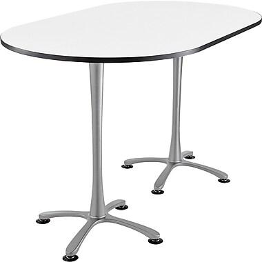 Safco Cha Cha 84'' Standard Sit & Stand Desk, Silver/White (2551DWSL)