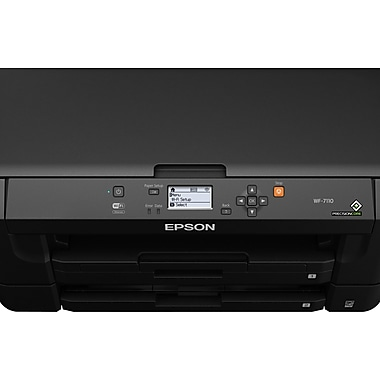 Epson® - Imprimante jet d'encre couleur sans fil WorkForce WF-7110 avec AirPrint
