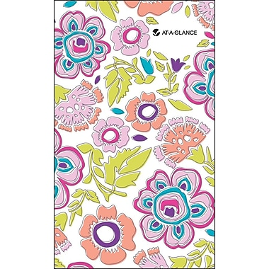 AT-A-GLANCE® Good Vibrations 2 Year Monthly Pocket Planner, 3 5/8in. X 6 1/16in., 2014-2016