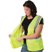 PIP 2-Pocket Zipper Mesh Safety Vest, Orange, XL