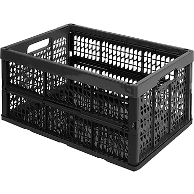 KIS Recycled Collapsible Crate, Black