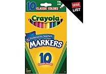 Crayola® Classic Markers, Fine Line, 10/Box