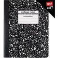 Staples® Composition Notebook, College Ruled, Black, 9-3/4in. x 7-1/2in.