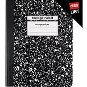 Staples® Composition Notebook, College Ruled, Black, 9-3/4 x 7-1/2