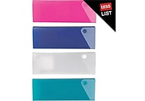Staples® Slider Pencil Cases, Assorted